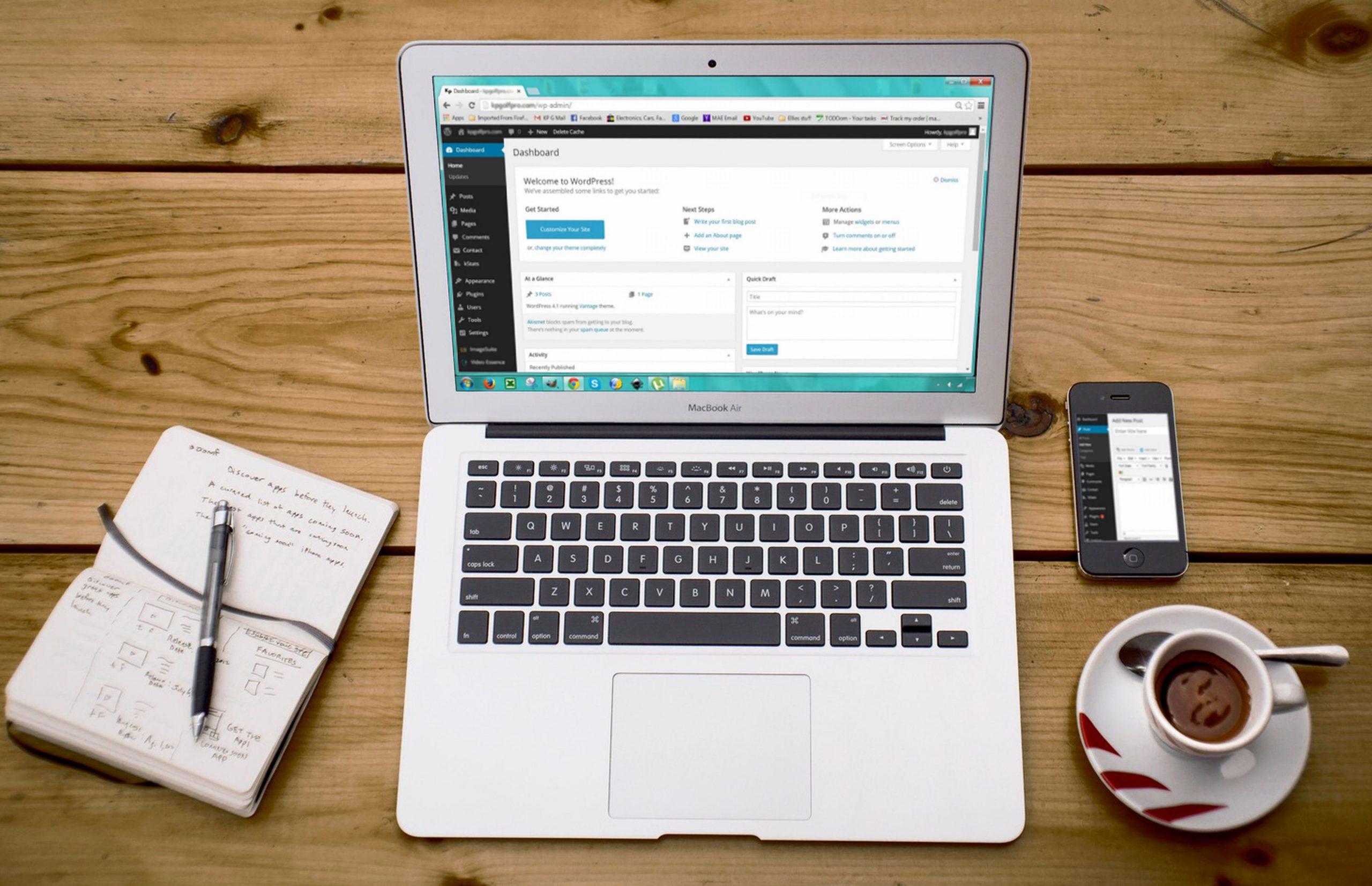 site em wordpress - Blu Marketing Digital
